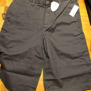 NWT Gap Navy flat front shorts